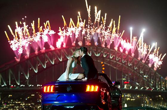 Австралия встретила Новый 2015 год грандиозным фейерверком