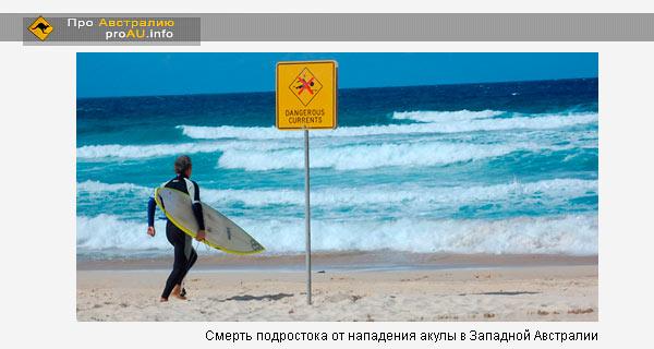 Смерть подростока от нападения акулы в Западной Австралии