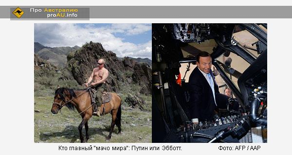 Кто главный «мачо мира»: Путин или Эбботт
