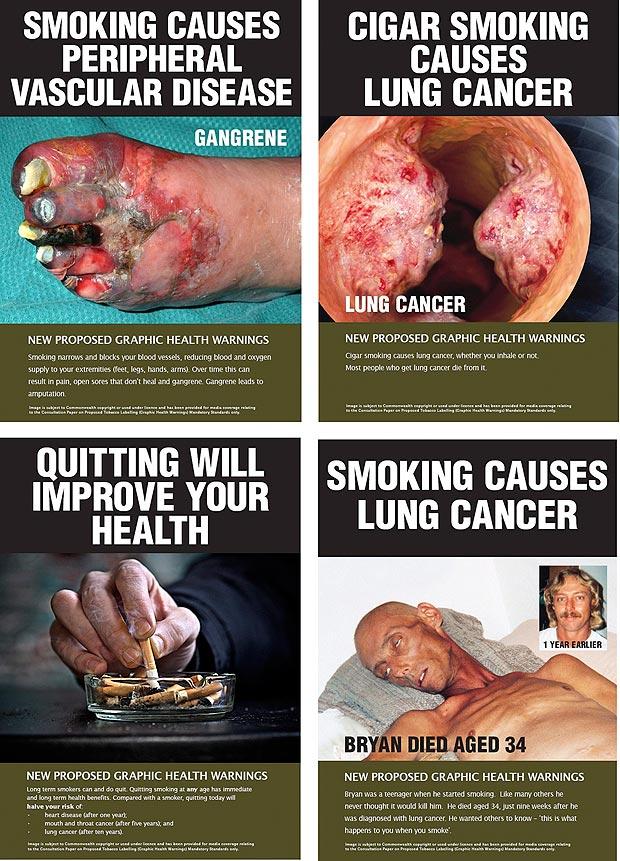 Оформление пачек сигарет в Австралии