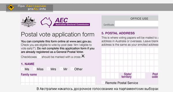 В Австралии началось досрочное голосование на парламентских выборах