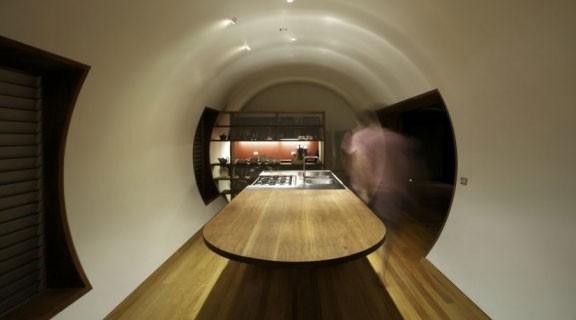 Цилиндрическая архитектура эко-дома Drew House в Австралии