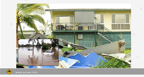 Над австралийским штатом Квинсленд пронесся разрушительный ураган