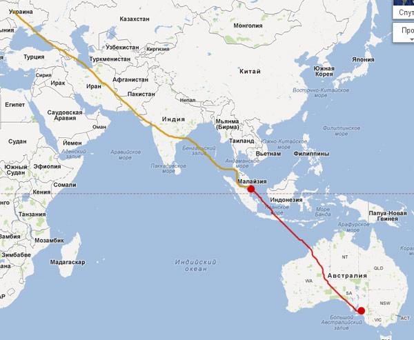 Перелет Сингапур - Аделаида (Австралия)