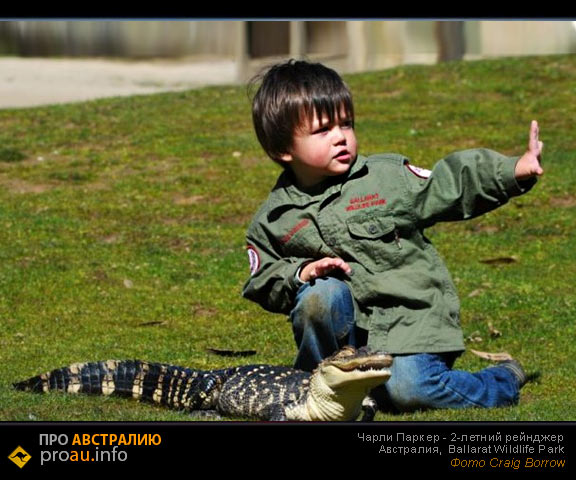 Чарли Паркер - 2-х летний смотритель за змеями
