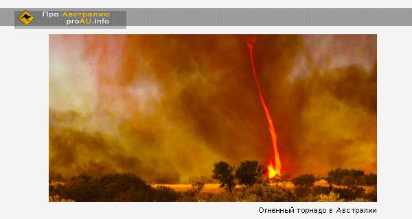 Огненный торнадо в Австралии