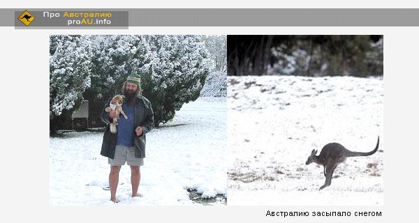 Впервые за 40 лет в Австралии выпал снег